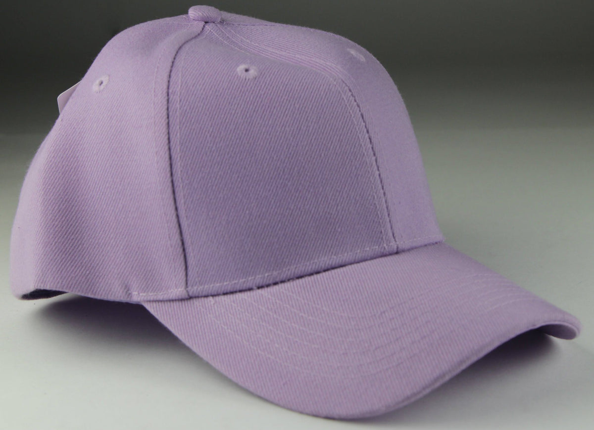 Velcro Baseball Hat Light Purple (Pc)