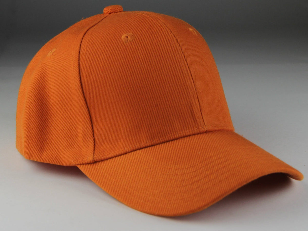 Velcro Baseball Hat Orange (Pc)