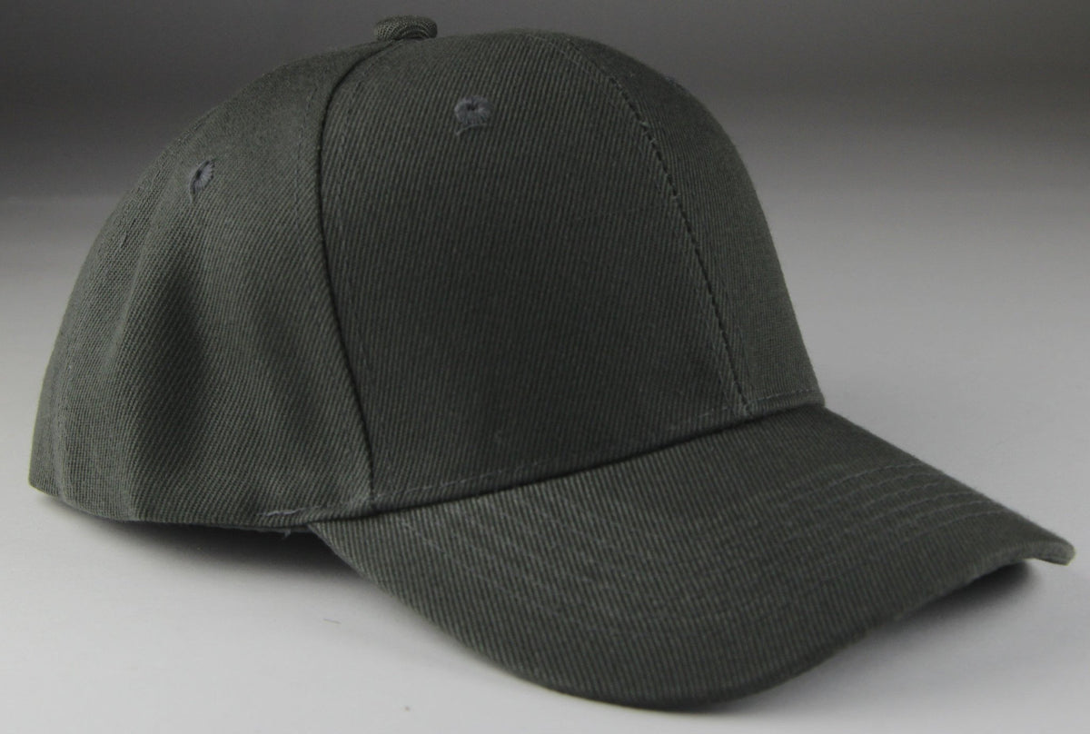 Velcro Baseball Hat Dark Gray (Pc)
