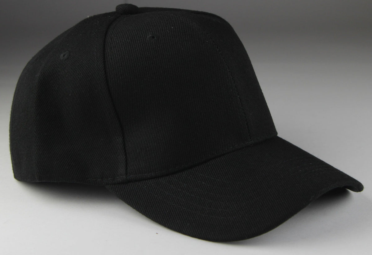Velcro Baseball Hat Black (Pc)