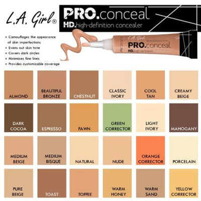 L.A. Girl HD Pro Concealer #GC (3PC)