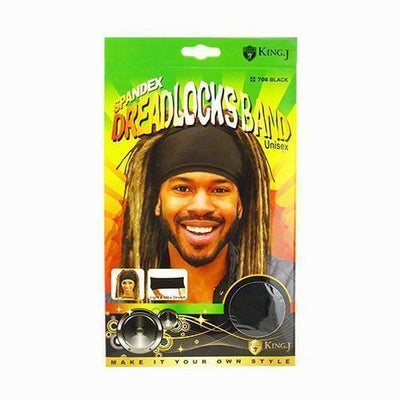 #708 Spandex Dreadlocks Band / Black