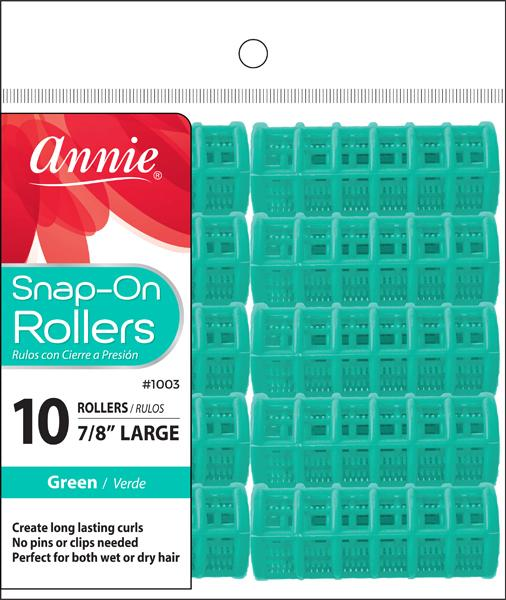#1003 Annie Annie Snap On Rollers Large / Green