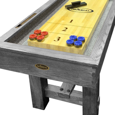 Imperial Reno Rustic 12ft Shuffleboard Table - Gaming Blaze