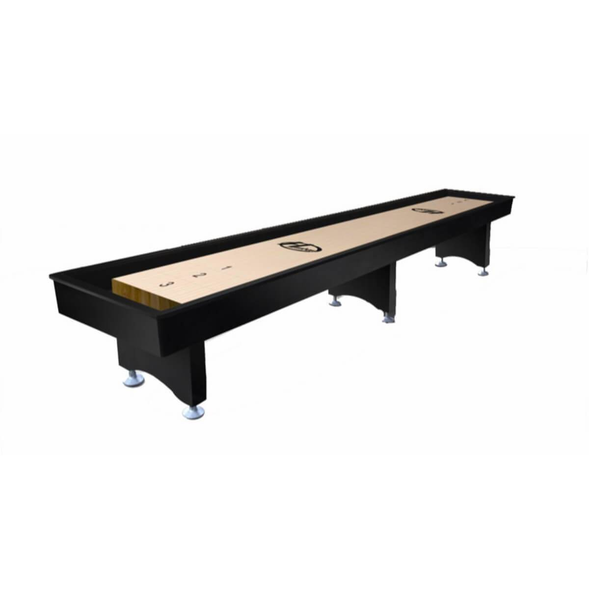 Hudson The Commercial Shuffleboard Table 9'-22' with Custom Stain Options - Gaming Blaze