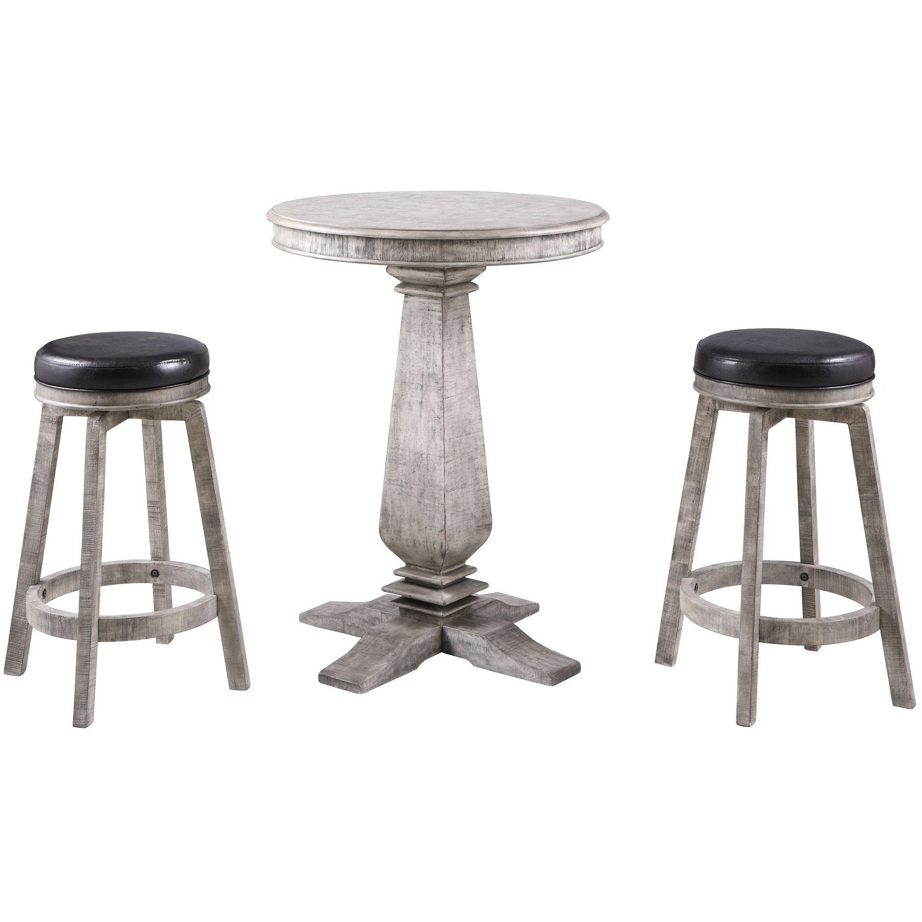 Hathaway Montecito 3 Piece Pub Table Set - Gaming Blaze