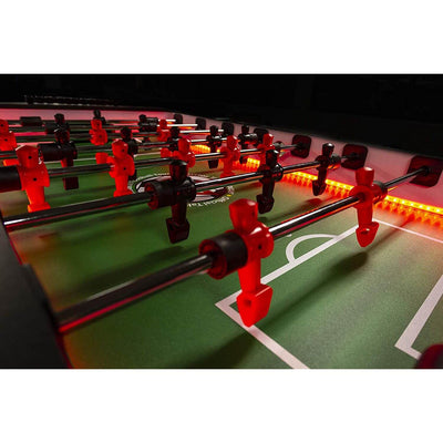 "Warrior Table Soccer Force 4 Professional LED Foosball Table 56"" - Gaming Blaze"