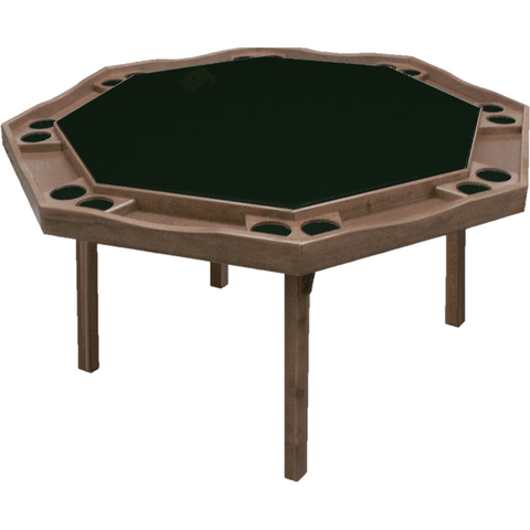 "Kestell 57"" Oak Contemporary Octagon Folding Poker Table 8 Person - Game Tables"