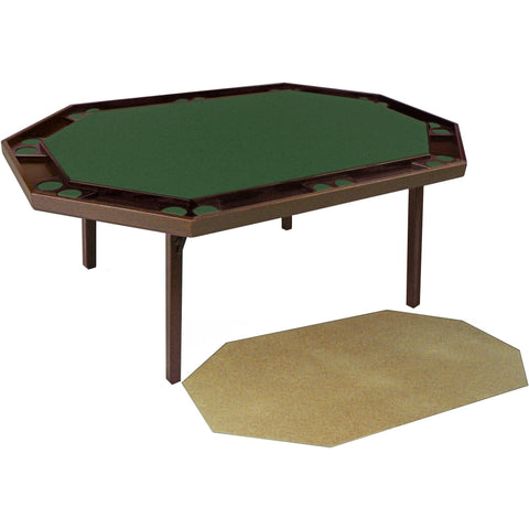 Kestell Deluxe Oak Folding Poker Table with Dining Top 10 Person - Game Tables