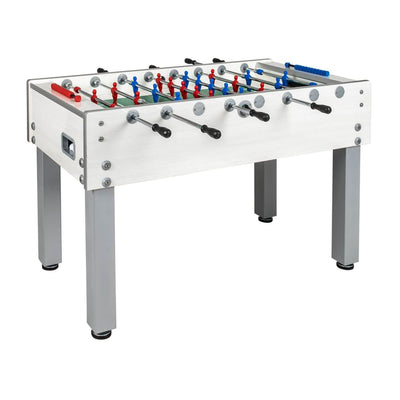 Garlando G-500 Weatherproof White Outdoor Foosball Table - Gaming Blaze