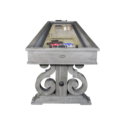 Imperial Barnstable 12ft Shuffleboard Table in Silver Mist - Gaming Blaze