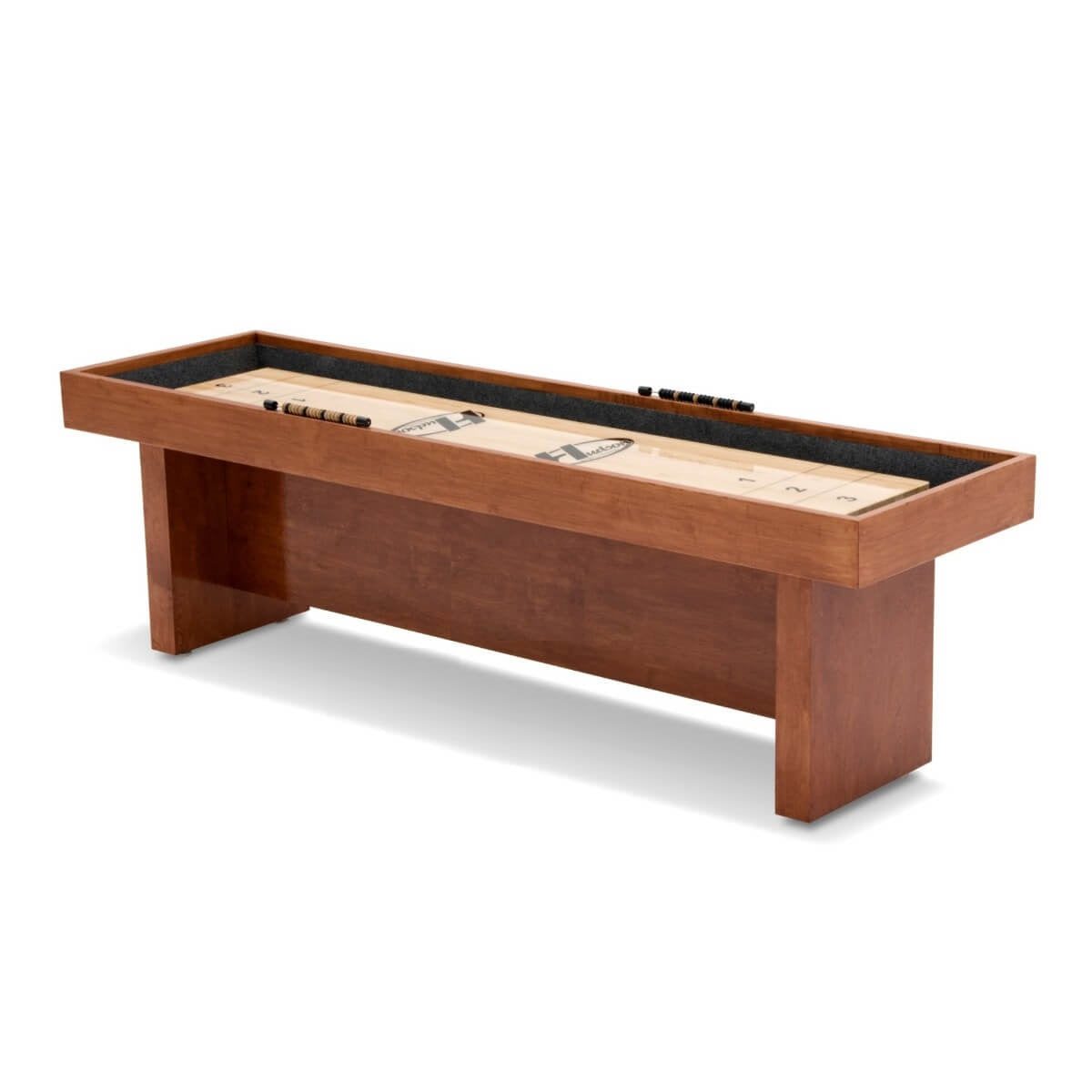 Hudson Berkeley Shuffleboard Table 9'-22' with Custom Stains - Gaming Blaze