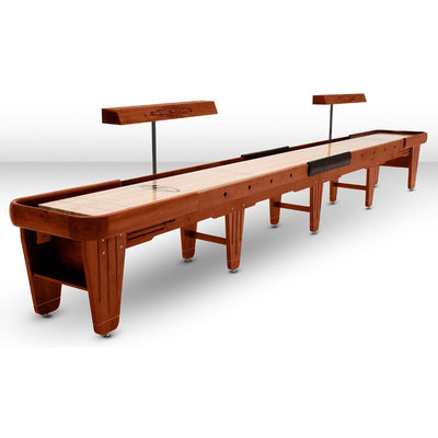 Hudson Dominator Shuffleboard Table 9'-22' with Custom Wood and Stain Options - Gaming Blaze