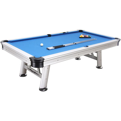 Playcraft Extera 8' Outdoor Pool Table with Playing Accessories - Gaming Blaze