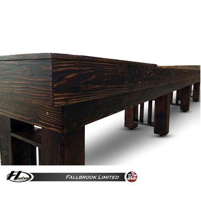 Hudson Fallbrook Limited Shuffleboard Table 9'-22' with Custom Stain Options - Gaming Blaze