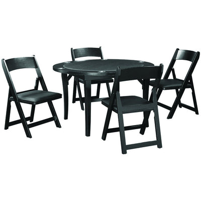 "RAM Game Room 48"" Folding Poker Table Set with 4 Folding Chairs - Gaming Blaze"