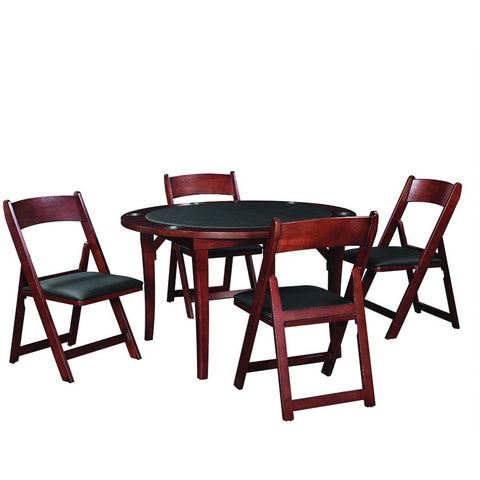 "RAM Game Room 48"" Folding Poker Table Set with 4 Folding Chairs - Game Tables"