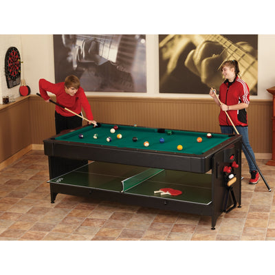 Fat Cat Original Pockey 7ft 2 in 1 Multi-Game Table - Gaming Blaze