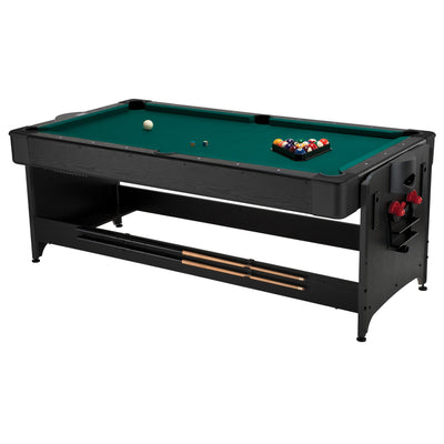 Fat Cat Original Pockey 7ft Black 3 in 1 Multi Game Table - Gaming Blaze