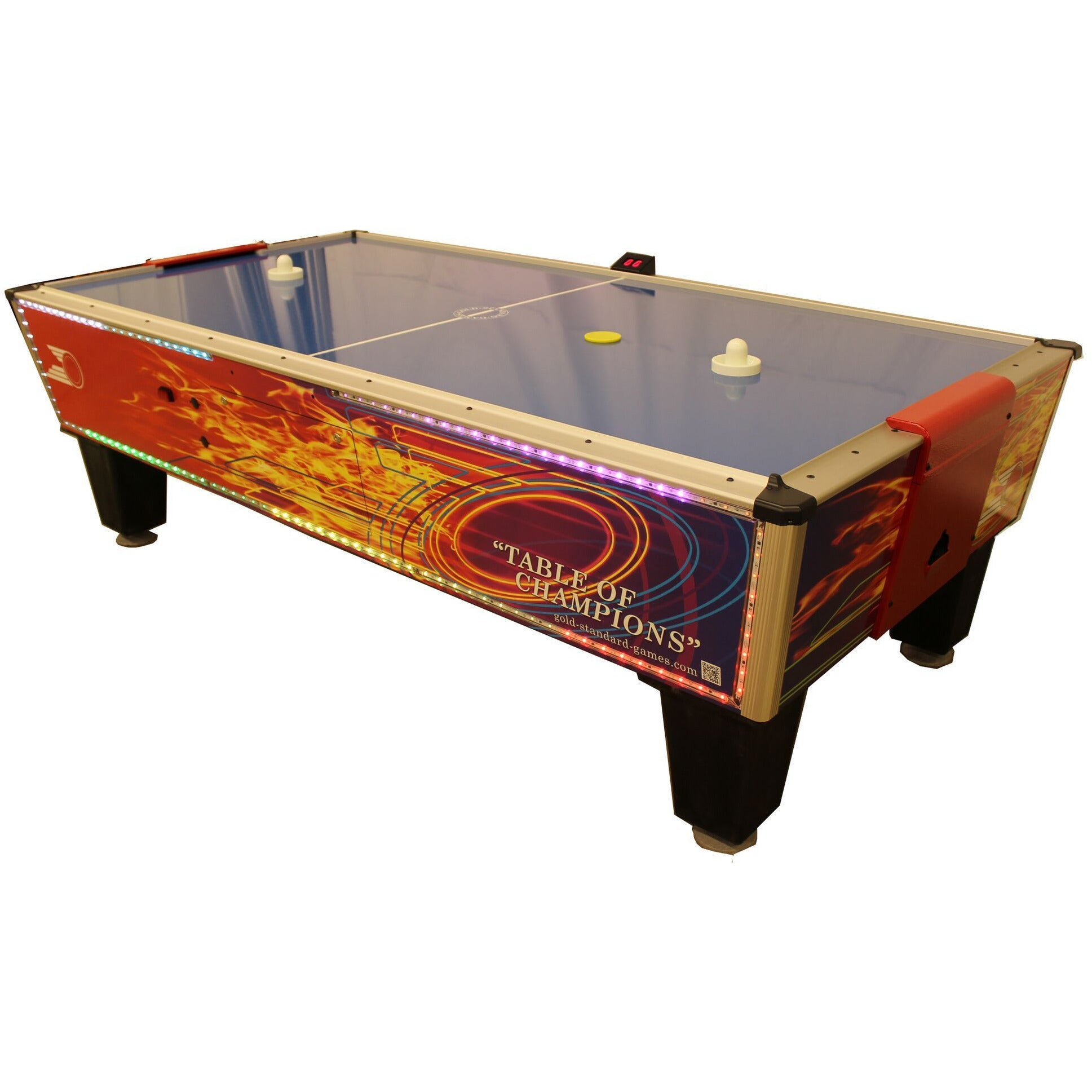 Gold Standard Games Gold Flare Home LED 8ft Air Hockey Table - Gaming Blaze