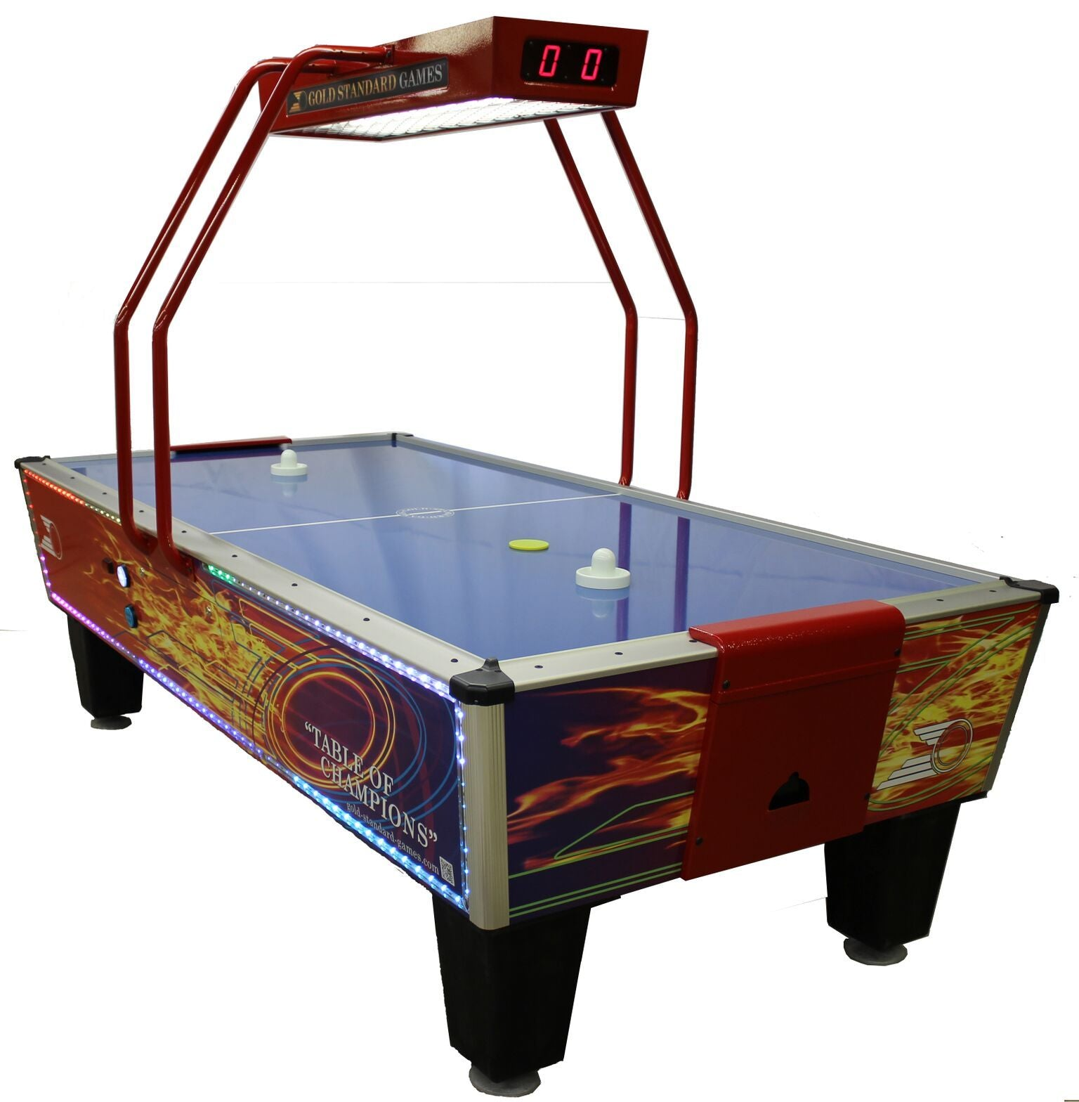 Gold Standard Games Gold Flare Home Elite LED 8ft Air Hockey Table - Gaming Blaze