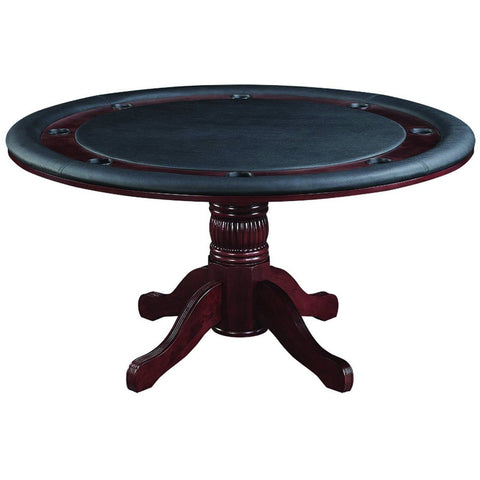 Image of RAM Game Room Convertible Round Dining Poker Table 8 Person - Game Tables
