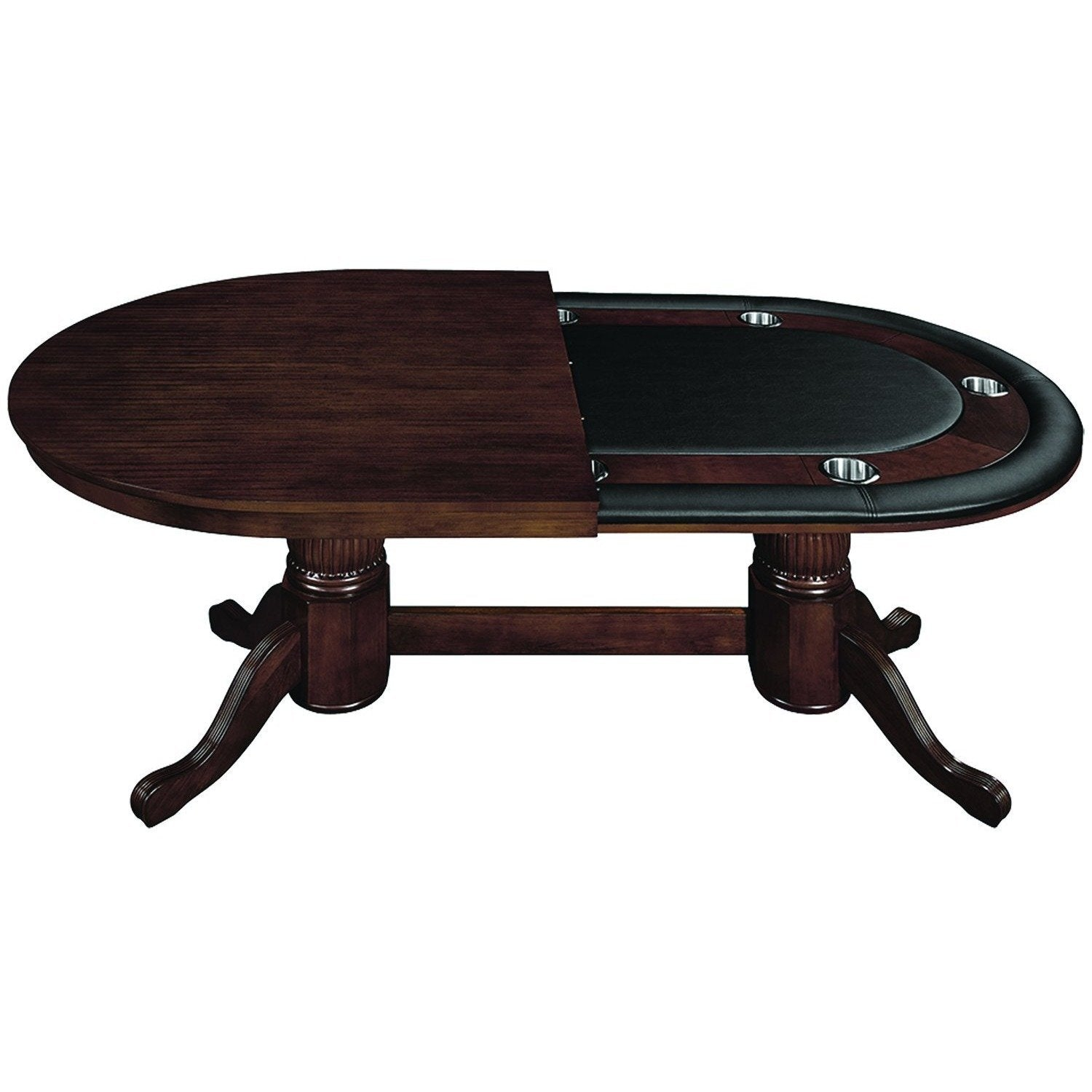 RAM Game Room Texas Holdem Oval Poker Table 9 Person