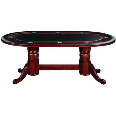 RAM Games Room Texas Holdem Oval Poker Table 8 Person - Gaming Blaze