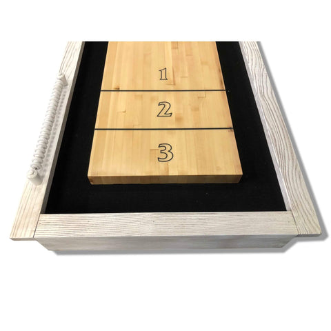 Playcraft Montauk Shuffleboard Table Weathered Whitewash - Gaming Blaze