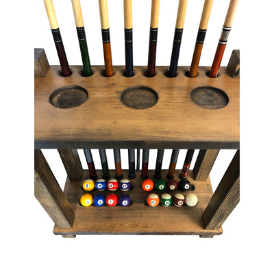 Playcraft Premium Hardwood Billiard Floor Rack - Gaming Blaze