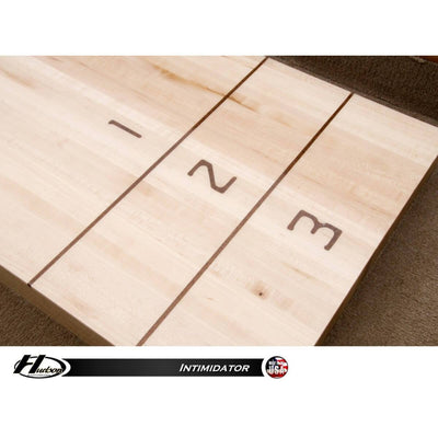 Hudson Intimidator Shuffleboard Table 9'-22' with Custom Stain Options - Gaming Blaze