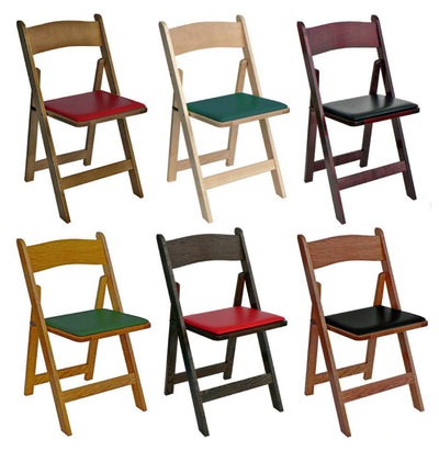 Kestell Oak Folding Poker Chair Set