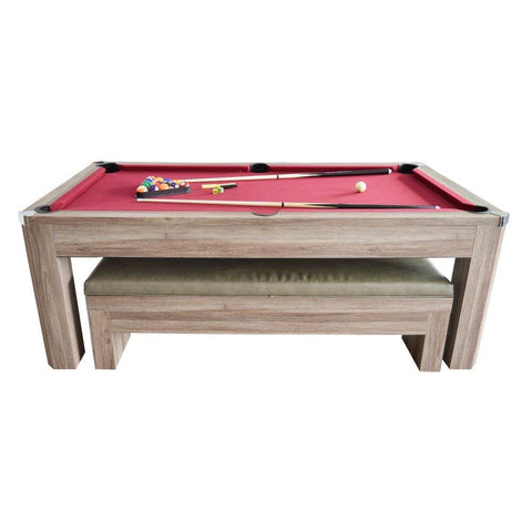 Hathaway Newport 7ft Multi Game Table with Dining Top & Benches  - Game Tables