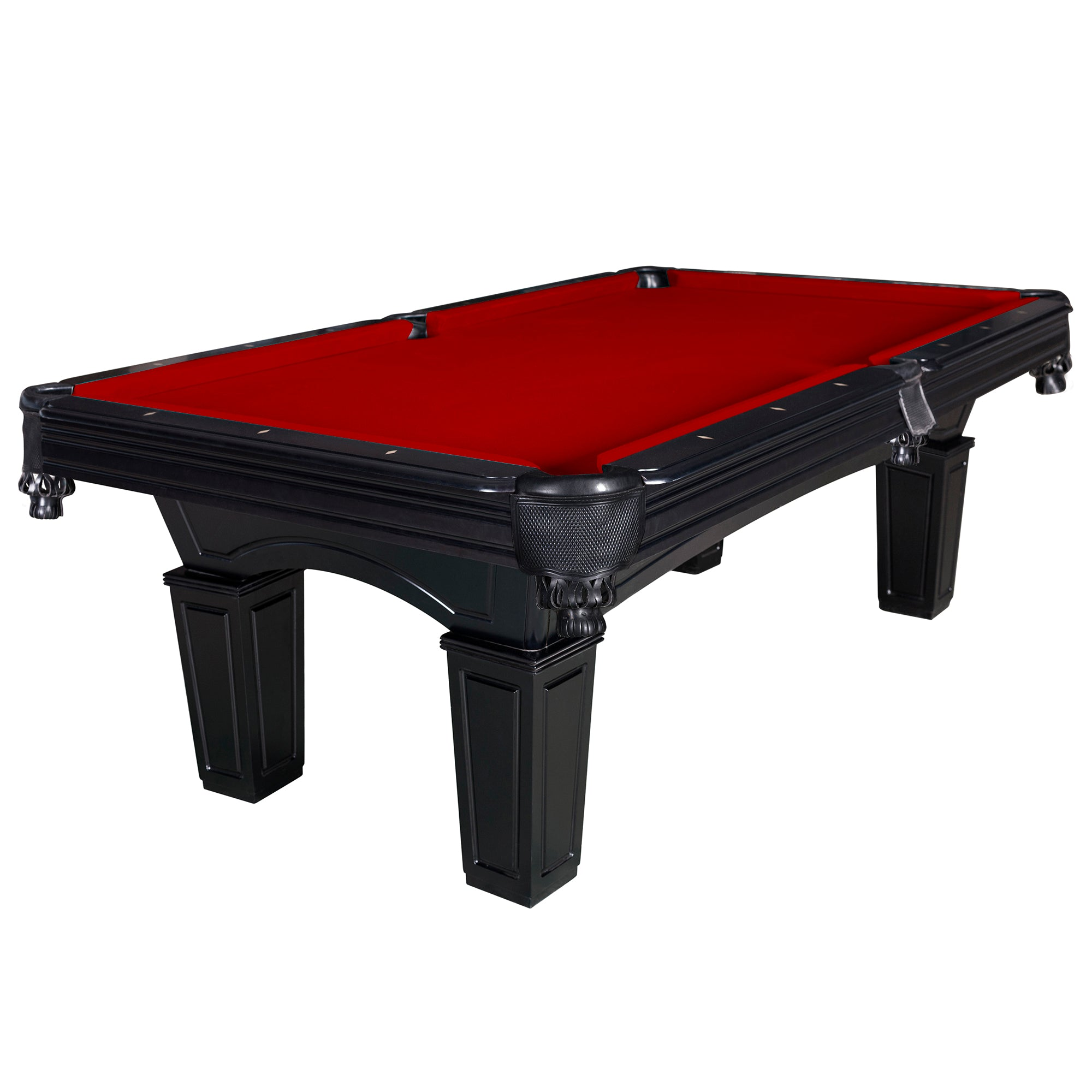 Hathaway Cobra Black 8ft Slate Pool Table - Gaming Blaze