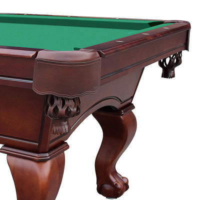 Hathaway Westport Antique Walnut 8ft Slate Pool Table - Gaming Blaze