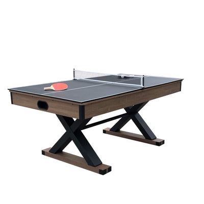 Hathaway Excalibur 6ft Multi Game Air Hockey Table with Table Tennis Top - Gaming Blaze