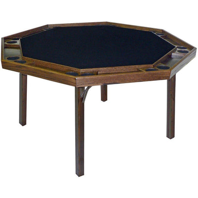 "Kestell 57"" Cotemporary Octagon Folding Poker Table 8 Person - Gaming Blaze"