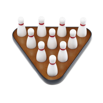 Playcraft Deluxe Pin Setter and Set of 10 Hardwood Bowling Pins - Gaming Blaze