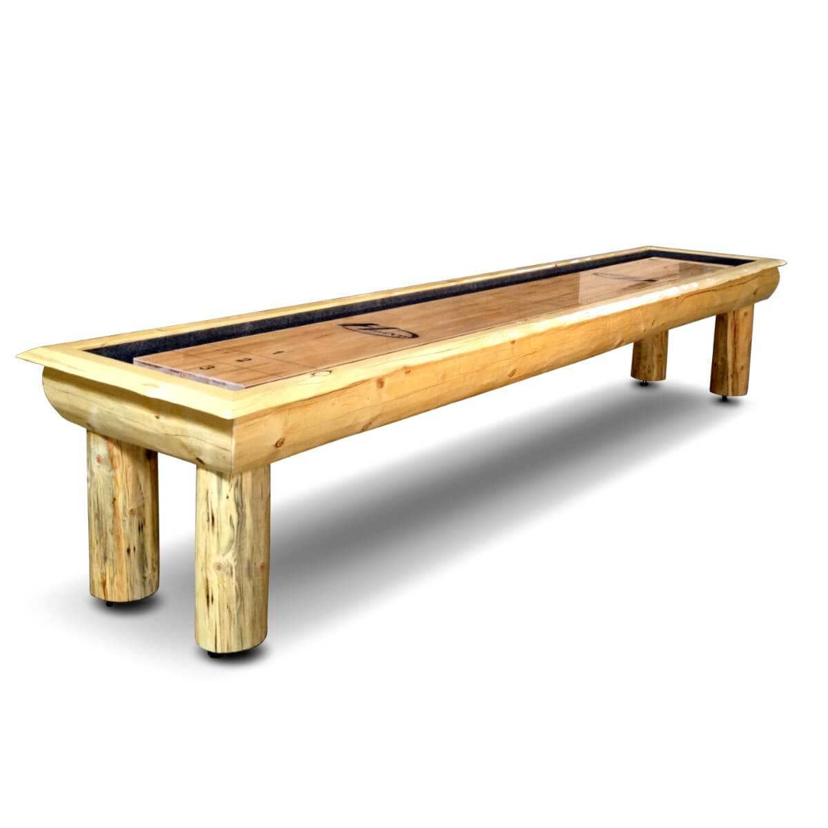 Hudson Ponderosa Shuffleboard Table 9'-22' with Custom Stain Options - Gaming Blaze