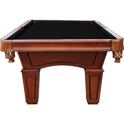 Playcraft St. Lawrence 8' Slate Pool Table with Leather Drop Pockets - Gaming Blaze