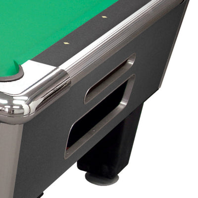 "Shelti Bayside Charcoal 93"" Slate Pool Table - Gaming Blaze"