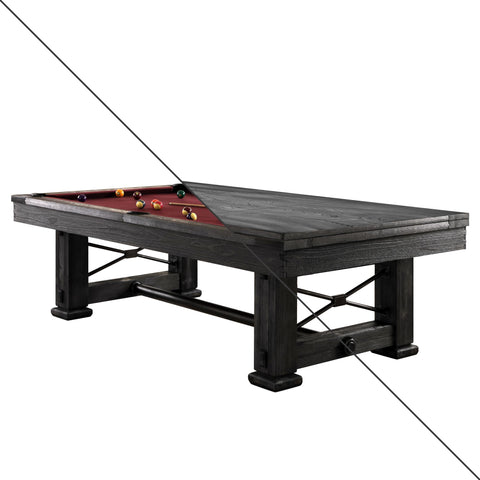 Image of Playcraft Rio Grande Slate Pool Table with Optional Dining Top - Gaming Blaze