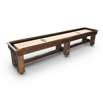 Hudson Sedona Limited Shuffleboard Table 9'-22' with Custom Stain Options - Gaming Blaze