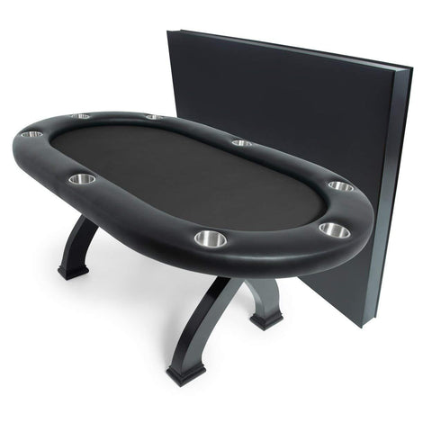 BBO Poker Tables X2 Mini Black Poker Dining Table 8 Person  - Game Tables