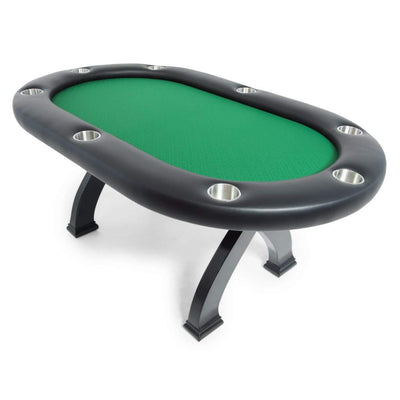 BBO Poker Tables X2 Mini Black Poker Dining Table 8 Person  - Gaming Blaze