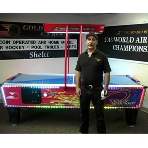 Gold Standard Games Gold Flare Home Elite LED 8ft Air Hockey Table - Game Tables