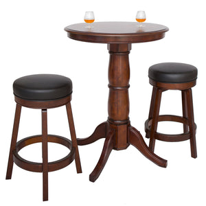 Hathaway Oxford Hardwood Walnut Finish 3 Piece Pub Table Set - Game Tables