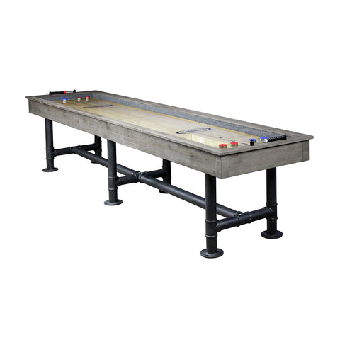 Image of Imperial Bedford Grey Industrial 12ft Shuffleboard Table - Game Tables