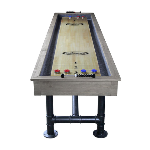 Image of Imperial Bedford 12ft Shuffleboard Table in Silver Mist - Gaming Blaze
