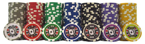 JP Commerce Big Slick 500 Piece Casino Poker Chips Set 11.5 gram - Game Tables